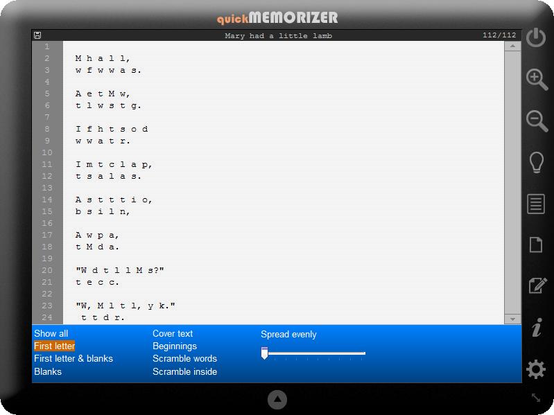quick memorizer 1.1